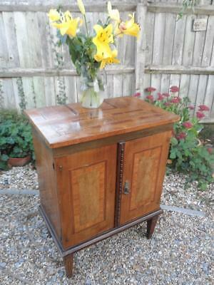Antique Georgian Cabinet Cupboard Superb Inlay Small Sideboard 19thC Rustic Chic