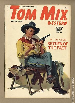 Tom Mix Western (Fawcett) #23 1949 VG- 3.5