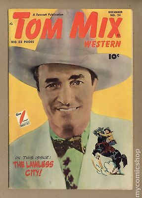 Tom Mix Western (Fawcett) #24 1949 GD/VG 3.0
