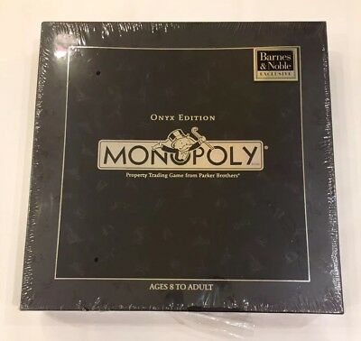 Rare monopoly onyx special limited edition board game 100.