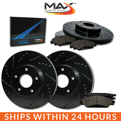 2013 2014 2015 2016 2017 Ram 1500 Black Slot Drill Rotors Metallic Pads F+R