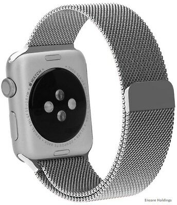 North 813125029418 Stainless Steel Mesh Band for Apple 1.5-inch Watch - Silver