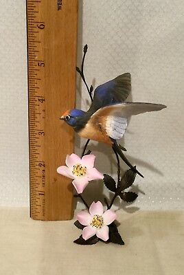 Royal Worcester (Barn  Swallow) Limited Edition Porcelain & Bronzed Bird