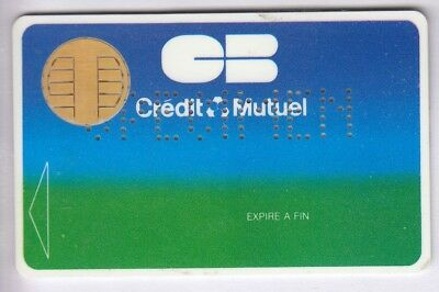 Carte / Card Banque Bank Credit .. Ancienne Cb Specimen Test Cp8 Bull 80/90 Puce