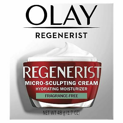 2 Olay Regenerist Micro-Sculpting Cream Advanced Anti-Aging Moisturizer 1.7oz FF