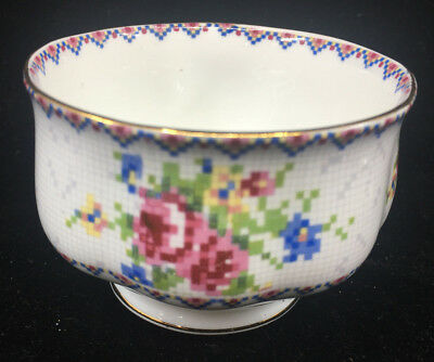 Royal Albert 1 Open Sugar Bowl Mini Petit Point England Floral Hampton 84994