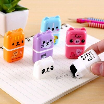 1x Novelty Cute Rolling Eraser Cartoon Roller Erasers Children School Stationery