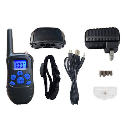 Pet Training Collar Rechargeable Electric LCD 100LV Shock Collar With Remote US