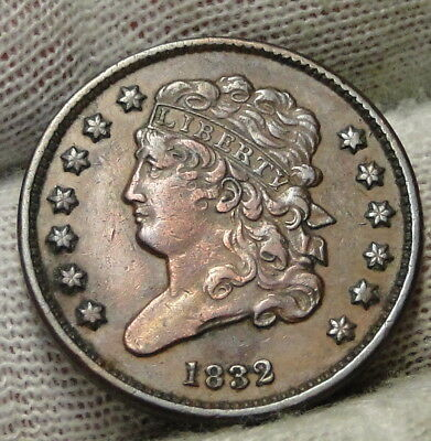 1832 Classic Head Half Cent - Nice Coin - Rare, Only 51,000 Minted (7460)