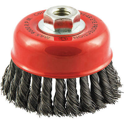 """GRAINGER APPROVED Cup Brush,Wire 0.014"""" dia.,Carbon Steel, 66252838786"""