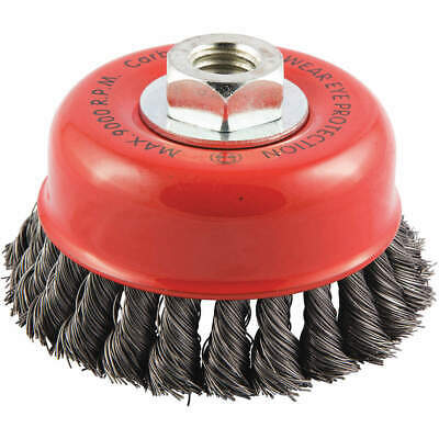 "GRAINGER APPROVED Cup Brush,Wire 0.014"" dia.,Carbon Steel, 66252838527"