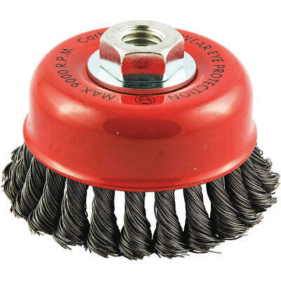 """GRAINGER APPROVED Cup Brush,Wire 0.020"""" dia.,Carbon Steel, 66252838699"""