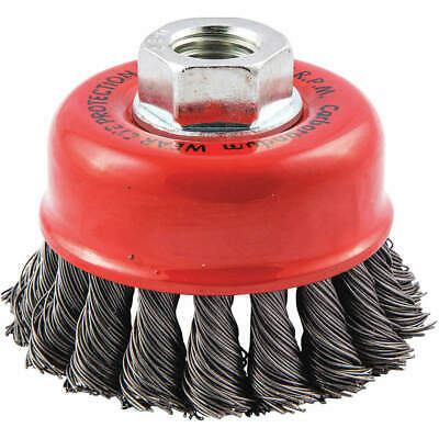 """GRAINGER APPROVED Cup Brush,Wire 0.020"""" dia.,Carbon Steel, 66252838693"""