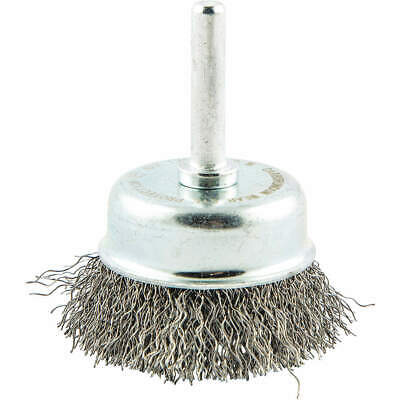 """GRAINGER APPROVED Cup Brush,Wire 0.012"""" dia.,Carbon Steel, 66252838551"""