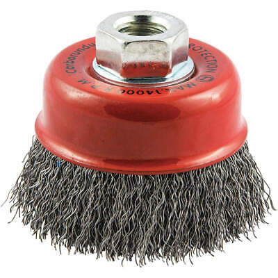 """GRAINGER APPROVED Cup Brush,Wire 0.014"""" dia.,Carbon Steel, 66252838685"""