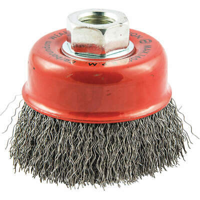 """GRAINGER APPROVED Cup Brush,Wire 0.014"""" dia.,Carbon Steel, 66252838506"""