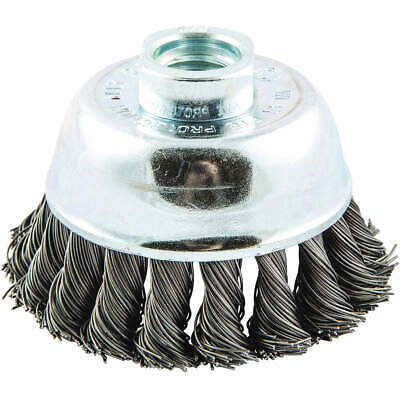 """GRAINGER APPROVED Cup Brush,Wire 0.020"""" dia.,Carbon Steel, 66252838785"""