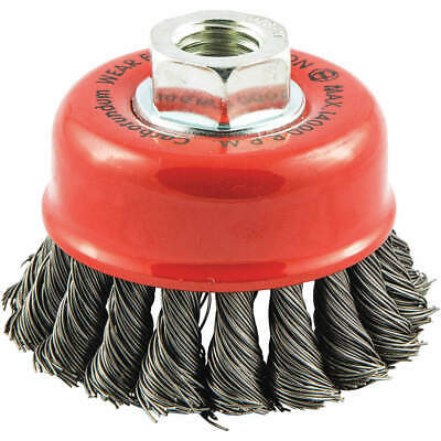 """GRAINGER APPROVED Cup Brush,Wire 0.020"""" dia.,Carbon Steel, 66252838509"""