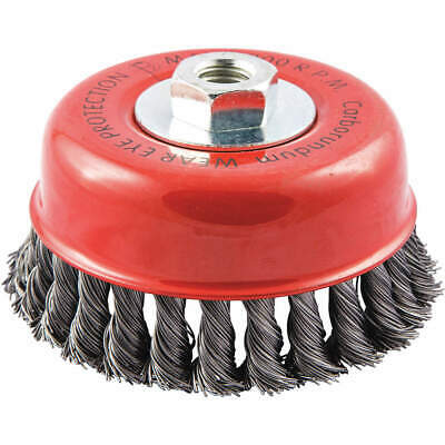 """GRAINGER APPROVED Cup Brush,Wire 0.020"""" dia.,Carbon Steel, 66252838701"""