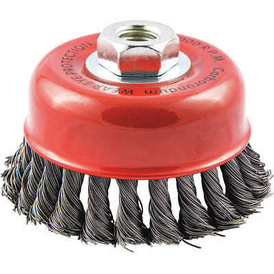 """GRAINGER APPROVED Cup Brush,Wire 0.020"""" dia.,Carbon Steel, 66252838787"""
