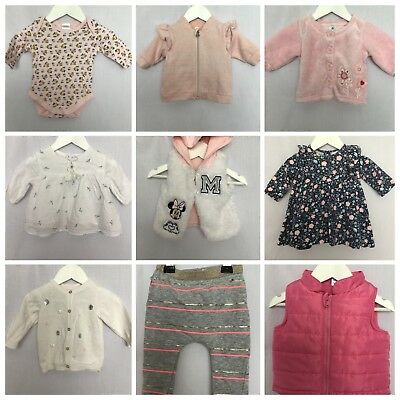 Baby Girl's Size 000 Lot Top Jacket Warm Winter Cotton On Disney #G174