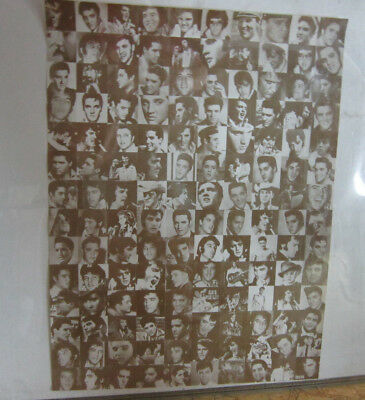 Rare Large Elvis Poster 1950's To 1970's Candid Photos Fan Club Sent Estate