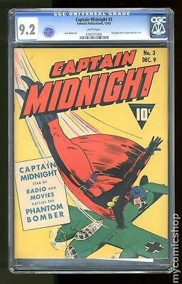 Captain Midnight #3 1942 CGC 9.2 0700771001