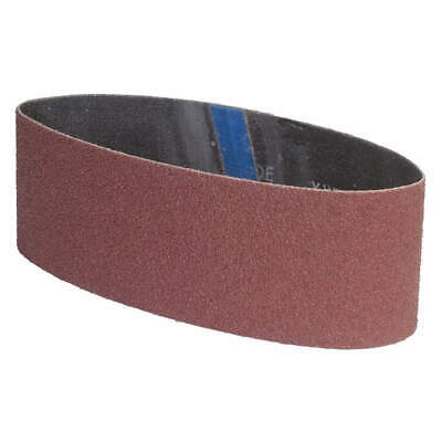 "GRAINGER APPROVED Sanding Belt,3"" W,24"" L,Coated,120 Grit, 05539554815, Brown"