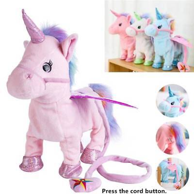 2018 UK Walking Talking Unicorn Plush Toy With Talk Singing Songs XMAS Gift Kids