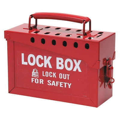 "CONDOR Group Lockout Box,Red,6"" H, 437R32, Red"
