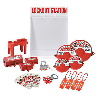 """CONDOR Polystyrene Lockout Station,Black/Yellow,26"""" H, 437R78, Red/White"""
