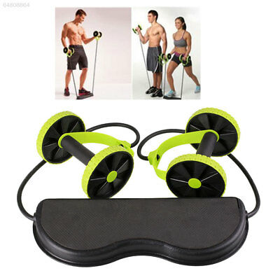 Double Wheel Ab Roller-Pull Rope Waist Abdominal Slimming Gym Exercise Equipment