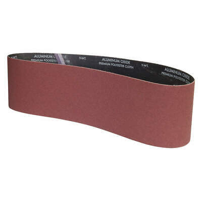 "GRAINGER APPROVED Sanding Belt,48""L x 6""W,Grit 120,Coated, 05539554849, Brown"