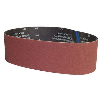 "GRAINGER APPROVED Sanding Belt,36"" L x 4"" W,Grit 80,Coated, 05539554836, Brown"