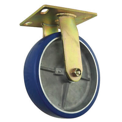 ZORO SELECT 1UHP4 Rigid Plate Caster,Poly,4 in.,140 lb.