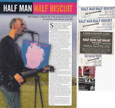 HALF MAN HALF BISCUIT : CUTTINGS COLLECTION -adverts interview-