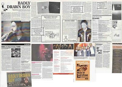 BADLY DRAWN BOY : CUTTINGS COLLECTION -interview adverts-