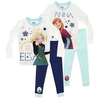 Disney Frozen Pyjamas 2 Pack | Kids Disney Princess Pyjama Set | | Girls Elsa PJ