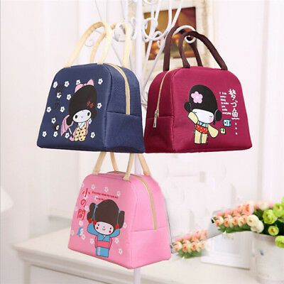 Cartoon Portable Insulated Thermal Cooler Lunch Carry Tote Picnic Storage Bag LG
