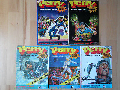 Perry Unser Mann im All Nr.2, 6, 73-75 - Konvolut MOEWIG SCIENCE FICTION COMICS
