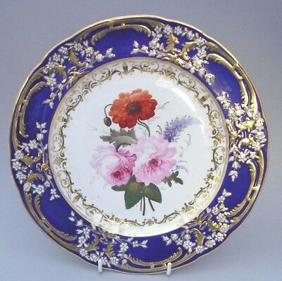 Antique Coalport Plate - Hand Painted By Thomas Brentnall - C. 1820