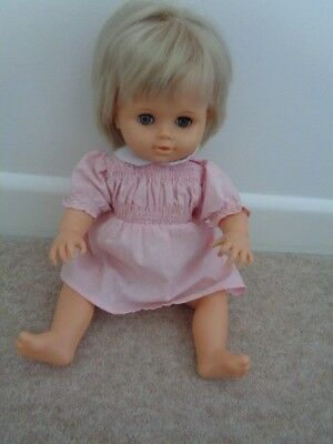 5a00751edeb1 VINTAGE TINY TEARS doll with pink dress - £22.00