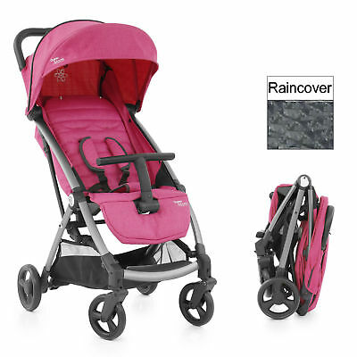 New Babystyle Wow Pink Oyster Atom Pushchair Stroller With Raincover