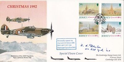 Christmas 1992  Hurricanes of 232 (F)Sqn Signed H A Fenton Battle of Britain Pil