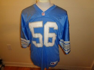 sale retailer 85682 0acfa 80S 48 XL VTG Detroit Lions AUTHENTIC #56 football jersey shirt Russell  Athletic