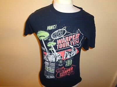 Mens small 2010 Vans Warped Tour Punk Rock skater music concert t-shirt 1- fc2f01796