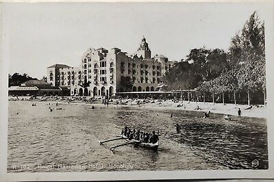 Postcard of Honolulu Hawaii RPPC Royal Hawaiian Hotel c30s-40s Unposted