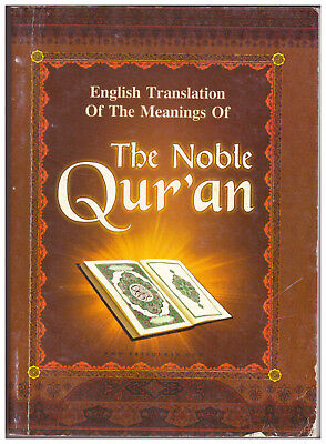 English Translation of the Meanings of the Noble Qur'an PAPERBACK Message Quran