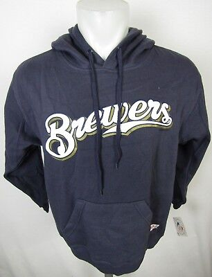 Milwaukee Brewers Stitches Men's Pullover Blue Gray Hoodie MLB M