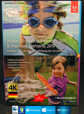 Adobe Photoshop Elements 2019 + Premiere 2019 Vollversion Win/Mac Download NEU